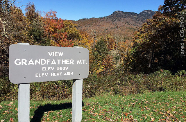 grandfather mountain sign
